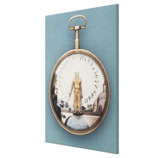Gold cased bras-en-l'air pocket watch canvas print