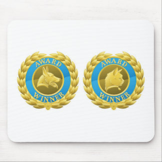 Gold cat and dog pet medals mousepads