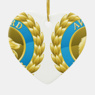 Gold cat and dog pet medals Double-Sided heart ceramic christmas ornament