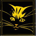 Gold Cat Face Photo Cut Out