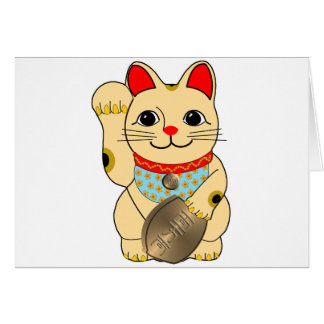 Gold Cat Greeting Card