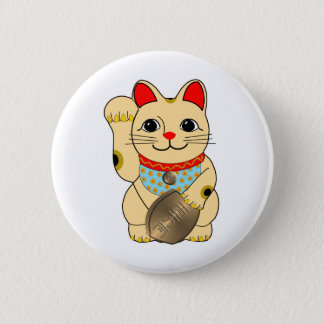 Gold Cat Pinback Button