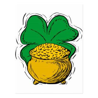 gold cauldron postcard