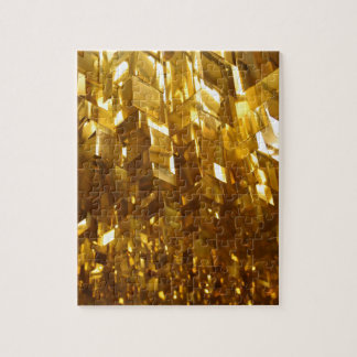 Gold Ceiling Abstract Art Jigsaw Puzzle