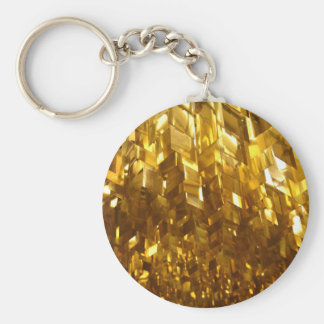 Gold Ceiling Abstract Art Keychain
