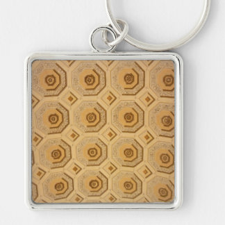 Gold Ceiling Pattern Keychain