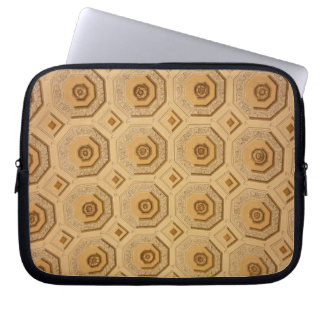 Gold Ceiling Pattern Laptop Sleeves