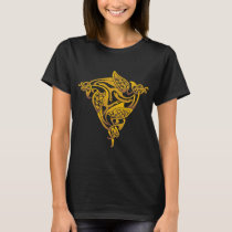 Gold Celtic Bird T-Shirt