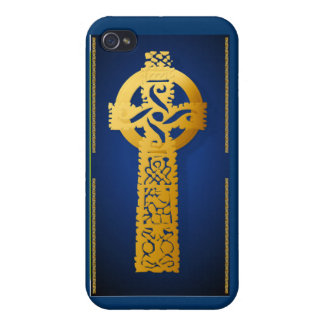 Gold Celtic Cross Case For iPhone 4