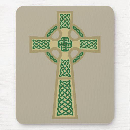 Gold Celtic Cross Computer Mousepad