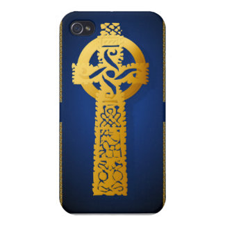 Gold Celtic Cross Cover For iPhone 4