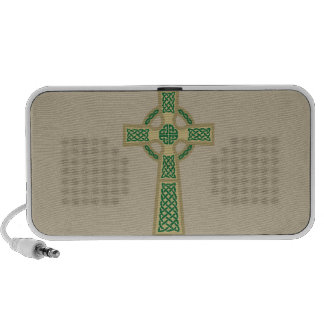 Gold Celtic Cross Doodle MP3 Speaker