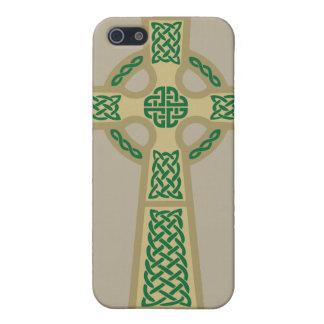 Gold Celtic Cross iPhone 4 Case