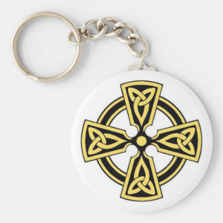 Gold Celtic Cross Keychain