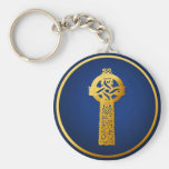 Gold Celtic Cross-Keychains
