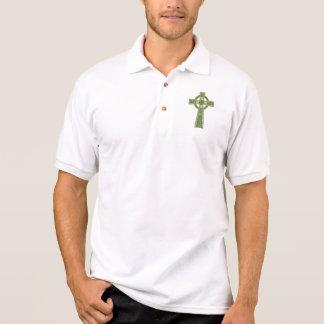 Gold Celtic Cross Polo Shirt