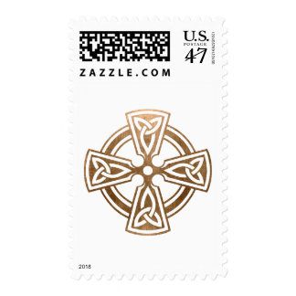 Gold Celtic Cross Religious Christmas Postage