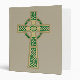 Gold Celtic Cross School Binder