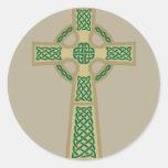 Gold Celtic Cross Stickers