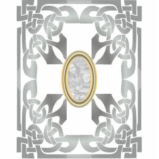 Gold Celtic Design Photo Frame Sculpture