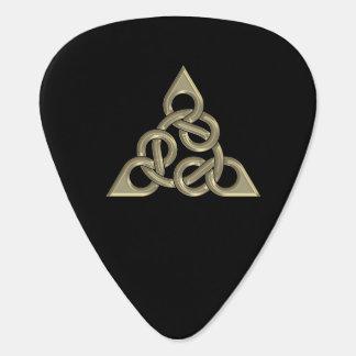 Gold Celtic Knot ~ Figure 8 Knot Guitar Pick
