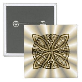 Gold Celtic Knot Original Artistic Design Button