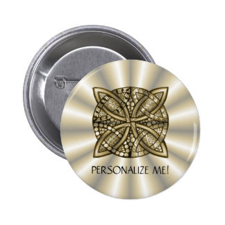 Gold Celtic Knot Original Artistic Design Pinback Button