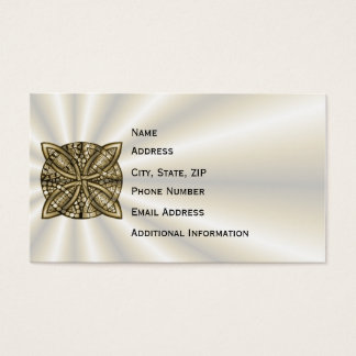Gold Celtic Knot Original Design Business Card