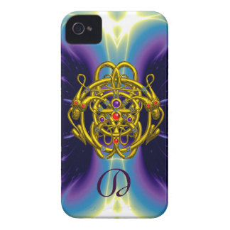 GOLD CELTIC KNOTS WITH TWIN DRAGONS iPhone 4 CASE