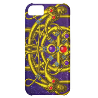 GOLD CELTIC KNOTS WITH TWIN DRAGONS iPhone 5C COVER