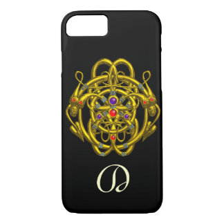 GOLD CELTIC KNOTS WITH TWIN DRAGONS iPhone 7 CASE