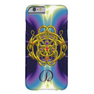 GOLD CELTIC KNOTS WITH TWIN DRAGONS MONOGRAM BARELY THERE iPhone 6 CASE
