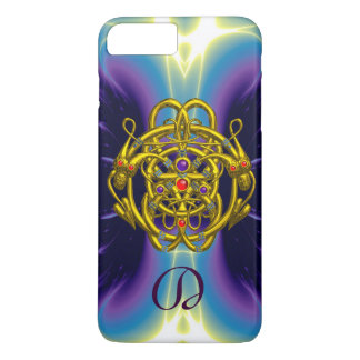 GOLD CELTIC KNOTS WITH TWIN DRAGONS MONOGRAM iPhone 7 PLUS CASE