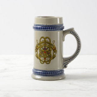 GOLD CELTIC KNOTS WITH TWIN DRAGONS MUG