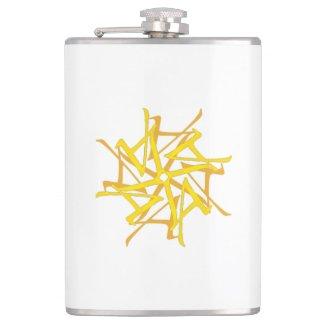 Gold Celtic Tantra LA Logo Flask