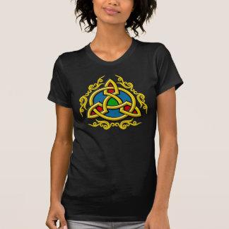 """Gold Celtic """"Tri-Knot"""" T-Shirt"""