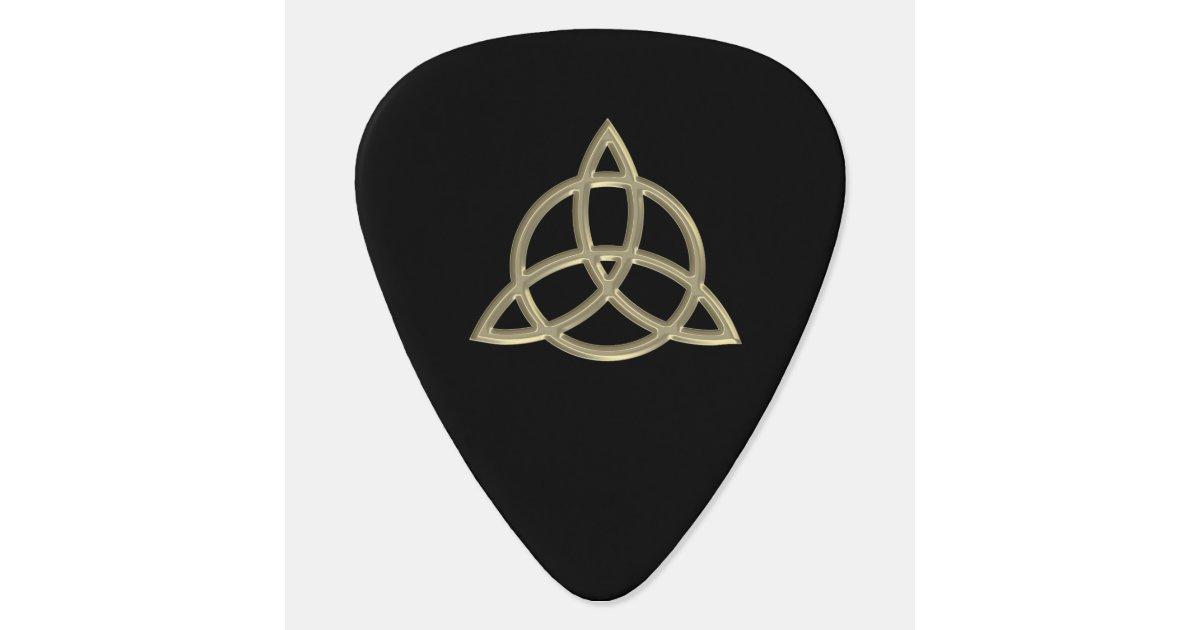 Gold Celtic Trinity Circle Knot Guitar Pick | Zazzle.com
