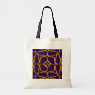Gold Celtic Weave On Purple Background Budget Tote Bag
