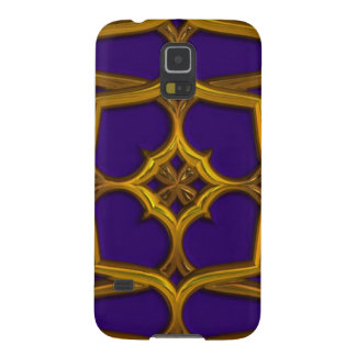 Gold Celtic Weave On Purple Background Galaxy S5 Covers