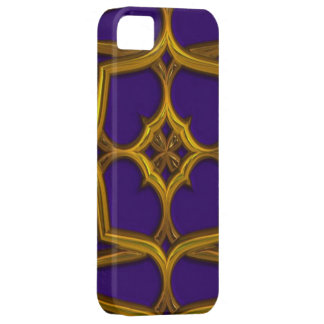 Gold Celtic Weave On Purple Background iPhone 5 Covers