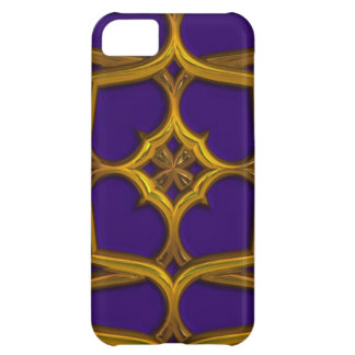 Gold Celtic Weave On Purple Background iPhone 5C Cover