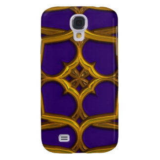 Gold Celtic Weave On Purple Background Galaxy S4 Case
