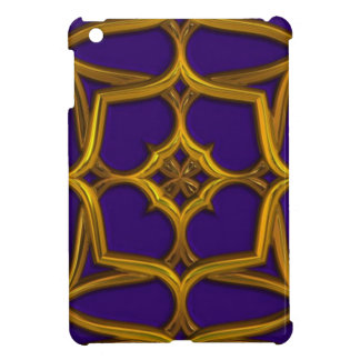 Gold Celtic Weave On Purple Background Case For The iPad Mini