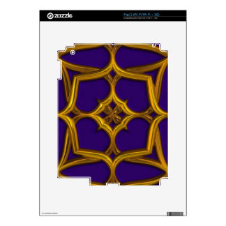 Gold Celtic Weave On Purple Background Decals For iPad 2