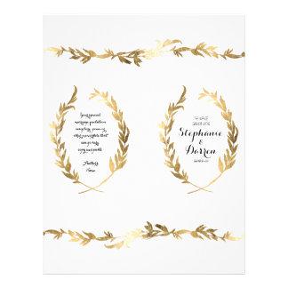 Gold Ceremony Program Olive Laurel Leaf Wreath Flyer