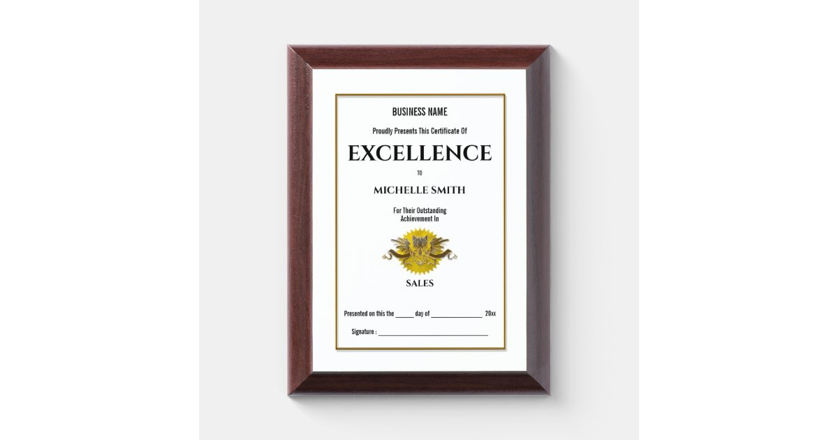 crest certificate award gold personalize seal
