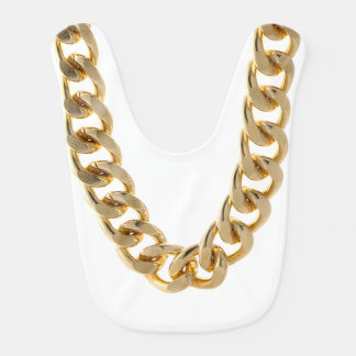 Gold Chain Baby Bib