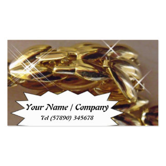 Gold chain Business Card