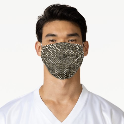 Gold Chain Link Punk Style Pattern Adult Cloth Face Mask
