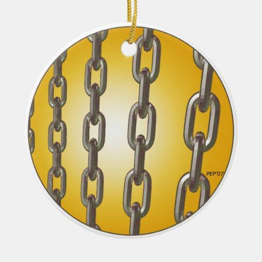 Gold Chains Ceramic Ornament
